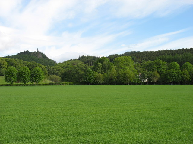 Fields and woods north of Comrie