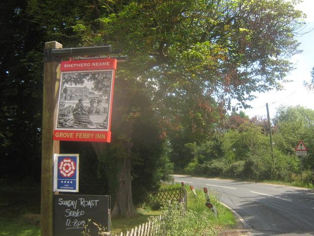 Grove Ferry Inn Pub Sign