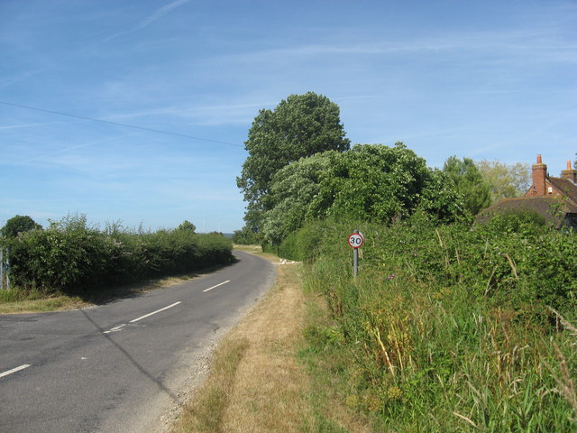 Junction of Marsh Lane with a minor road, Merston