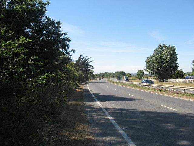 The A259 Chichester to Bognor Regis Road