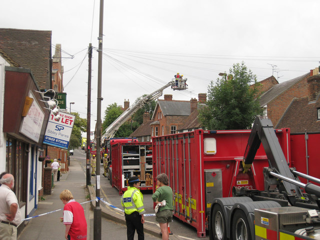 Aftermath of Fire on High Street
