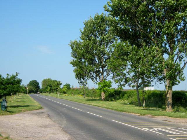 The B3153 approaching Somerton