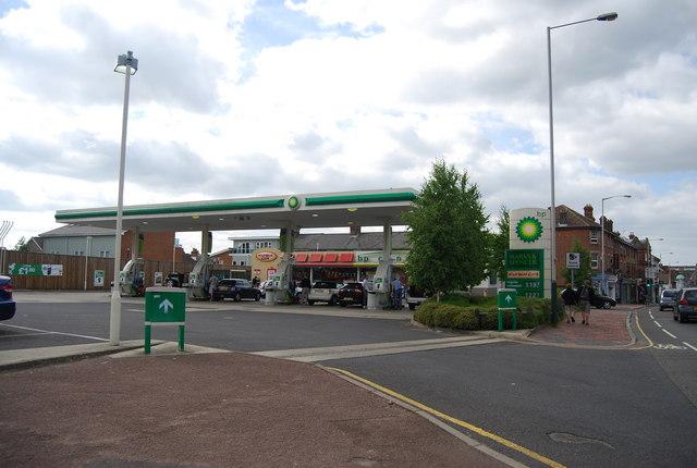 BP filling station, St John's Rd