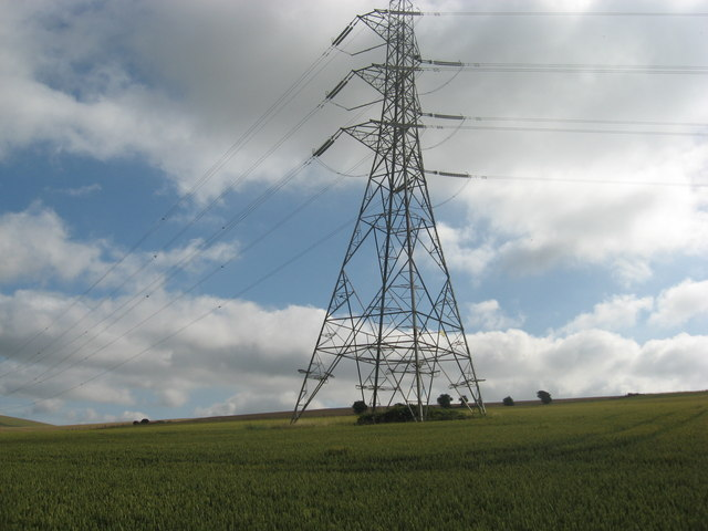 Pylon in wheatfield, Summers Deane
