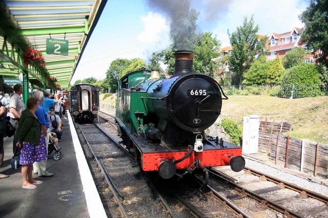 Swanage Steam railway  locomotive 6695
