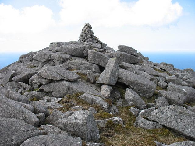 Mealisval summit cairn