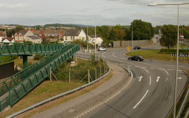 Newport : Spytty Road/Nash Road roundabout