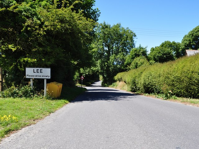 Passing from Lincombe into Lee