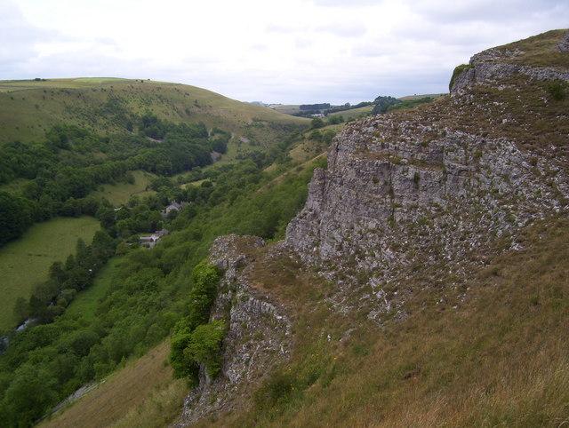 Limestone buttress above Upperdale