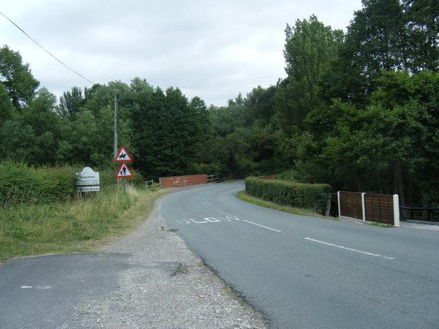 Alsager Road at Betchton village roadsign