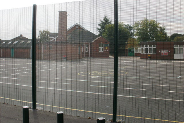 Meshy view of Liswerry school, Newport