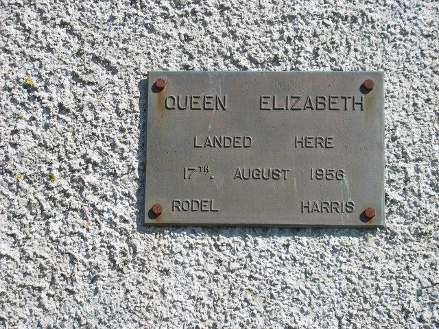 "Rodel Hotel:  ""Queen Elizabeth landed here"""
