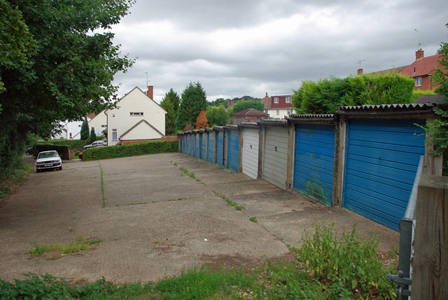 Garages at end of Rowan Close