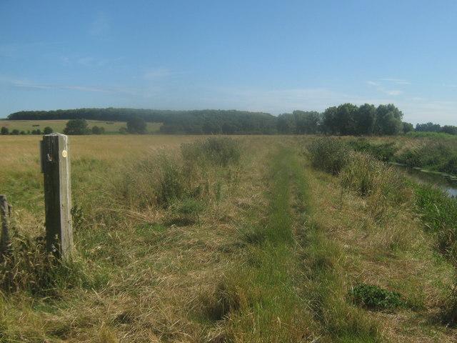 Footpath towards Wenderton Hoath