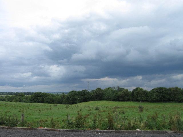 View towards River Gelt from Farm Shop car park