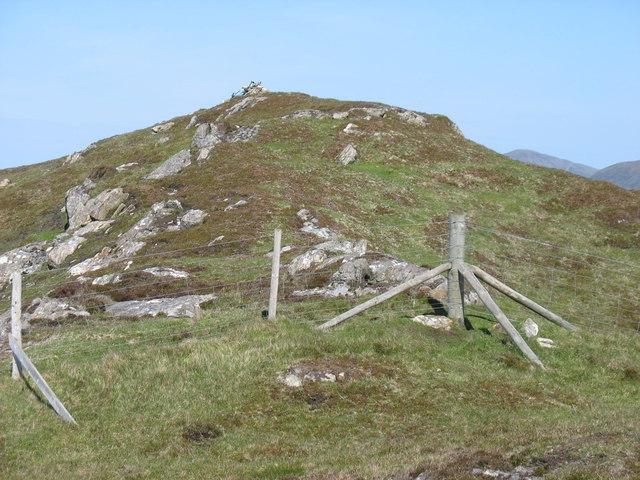 The summit cairn on Sranndaval