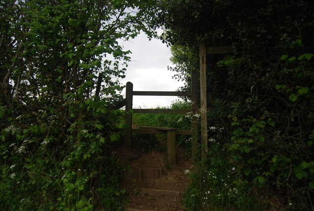 Stile on the Sussex Ouse Valley Way