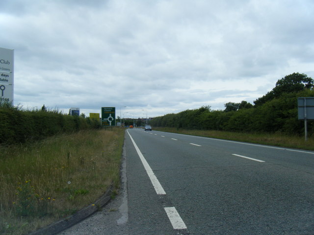 A500 approaching Meremoor roundabout