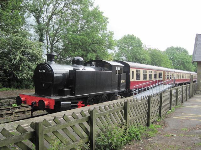 Train in Hawes Railway station