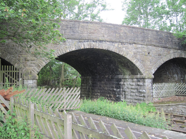 Road bridge over railway at Hawes station