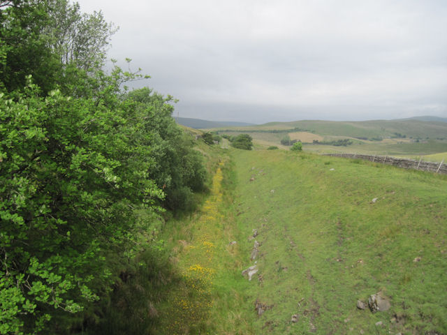 Old railway track from Moorland Cottages Bridge