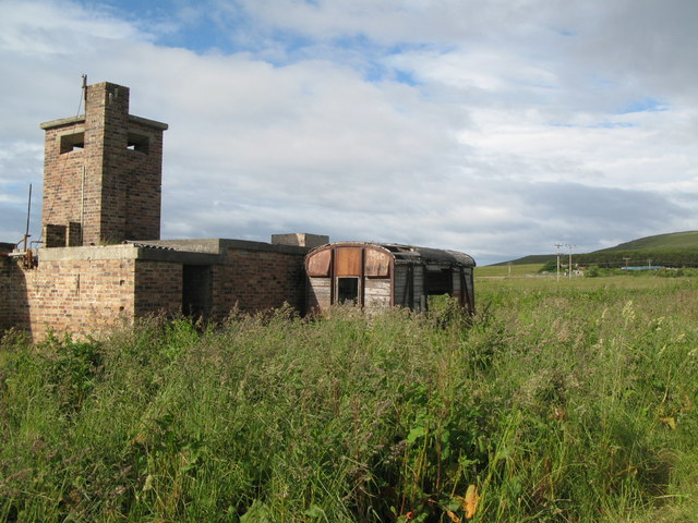 Disused military building near Lyness