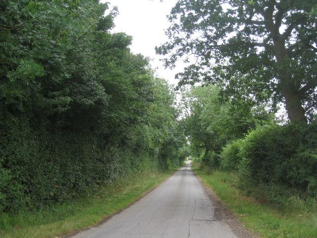 Lane near Pepperdale Farm