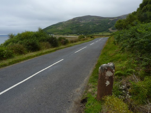 Milestone 41, Glen Catacol, Isle of Arran - looking NE