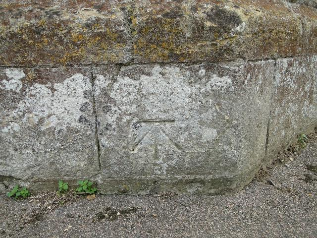 Bench Mark on Wymondham Church Tower