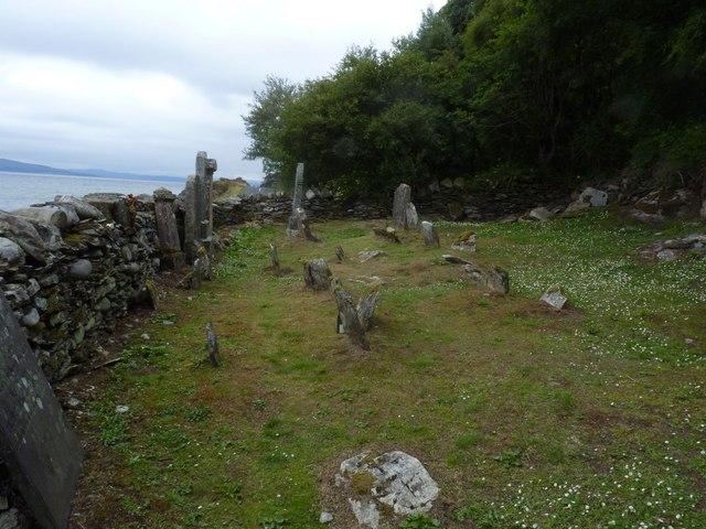 Old burial ground near Lennimore, Isle of Arran