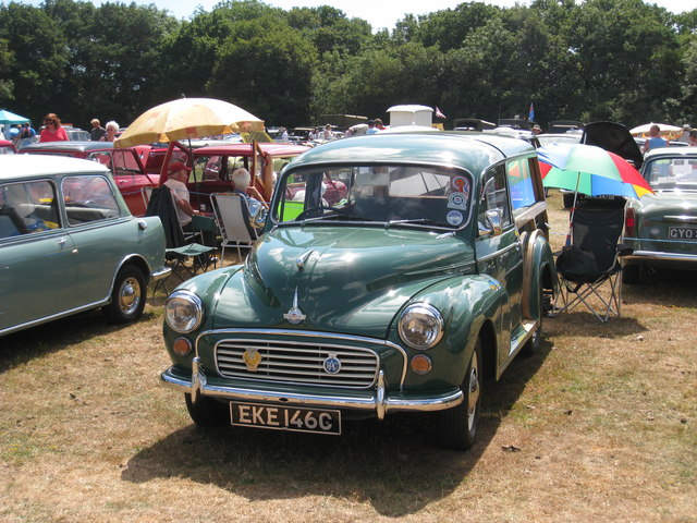 Morris Minor Traveller at Darling Buds Classic Car Show