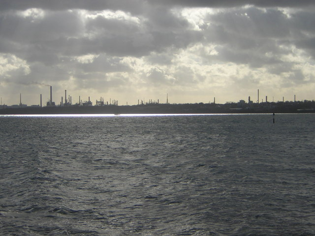 Fawley Refinery from across Southampton Water