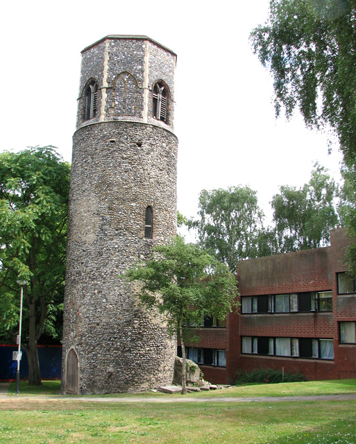 The tower of St Benedict's church, Norwich