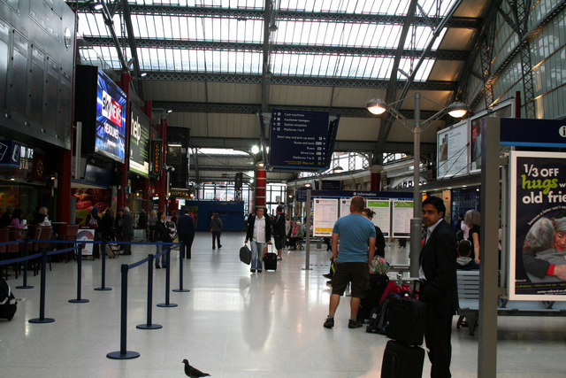 Liverpool Lime Street Station:  The concourse