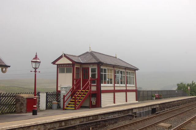 Signal box at Garsdale