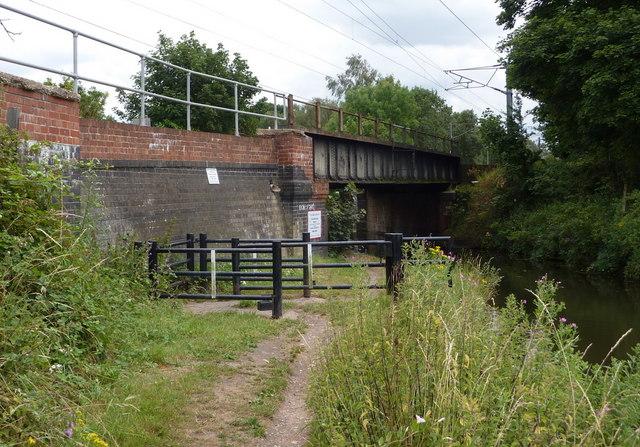 Main line railway bridge over the canal