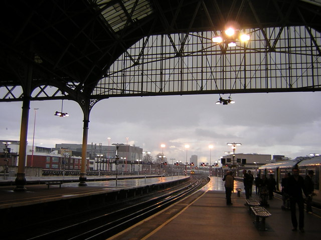 London Bridge Station, March shower