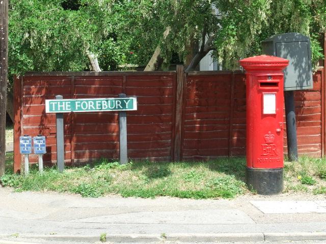 Pillar box at The Forebury