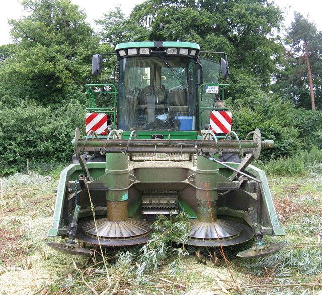 John Deere forage harvester