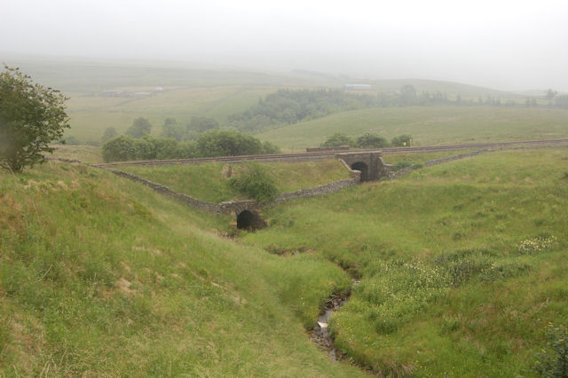 Stream bridges under railway at Ais Gill