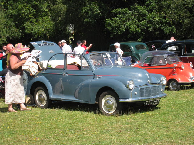 Morris Minor Convertible at Darling Buds Classic Car Show