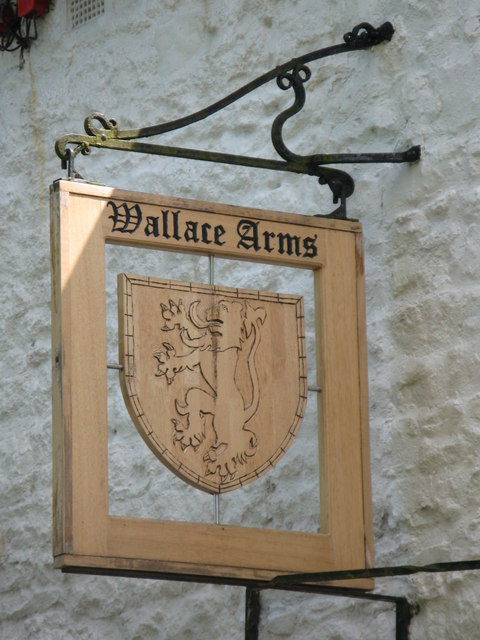 Sign for The Wallace Arms, Featherstone