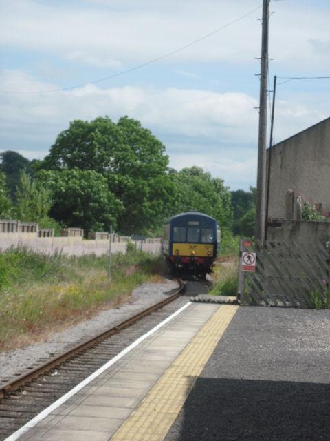 Train entering Leyburn