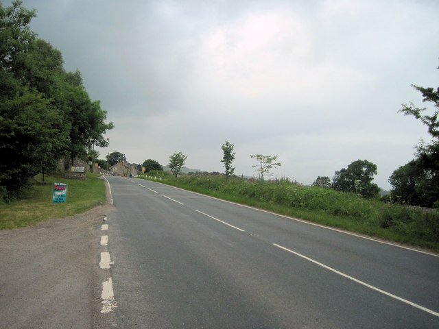 A684 Road into West Witton from the East