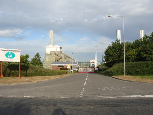 Entrance to Seabank Power Station, Severn Beach
