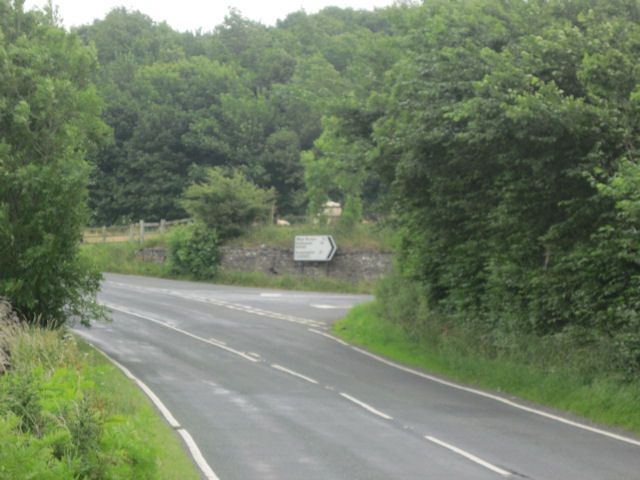 B6160 junction with A684