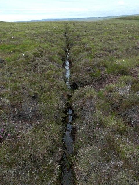 Drainage ditch below Coire na Beinne