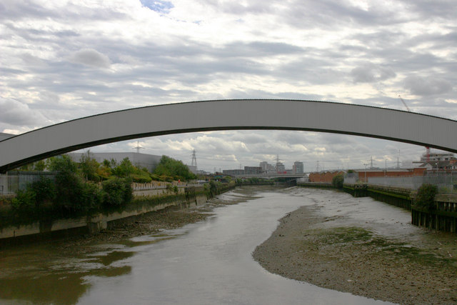Bow Creek north-west of Canning Town