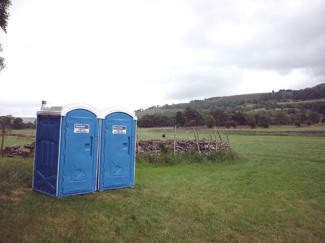 Porta-loos by Bishopdale Beck