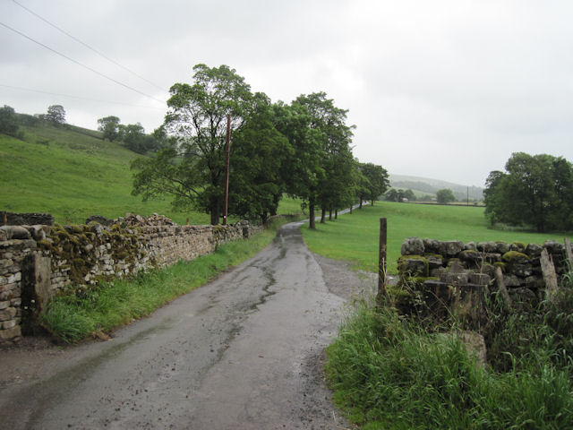 Lane to Marsett at Raydale House